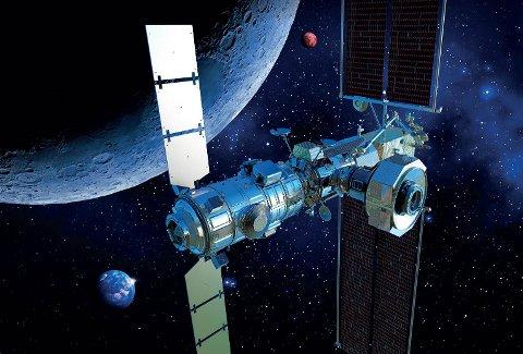 VISJON: Denne illustrasjonen fra NASA viser det massive omfanget Artemis-oppdraget virkelig har. Ser du hvorfor?