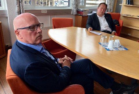 Havnedirektør Halvar Pettersen og havnestyreleder Jarle Heitmann.