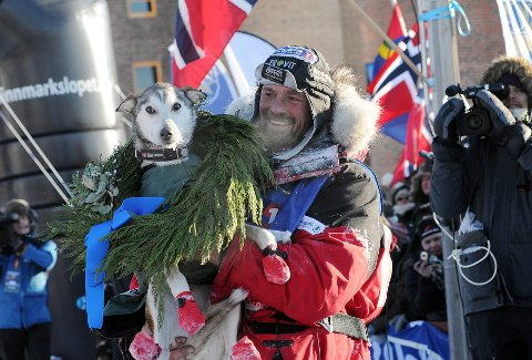 LEDER: Thomas Wærner leder Finnmarksløpet etter 1000 av 1200 kilometer.