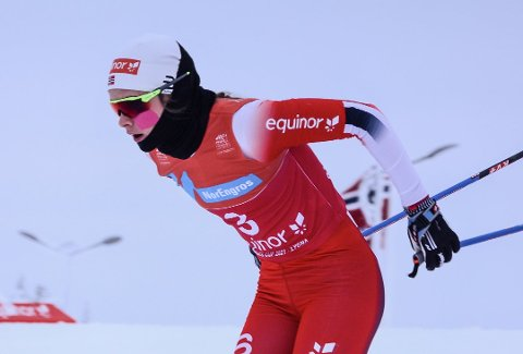 GOD INNSATS: Mathilde Myhrvold ble nummer fire på lørdagens sprint.