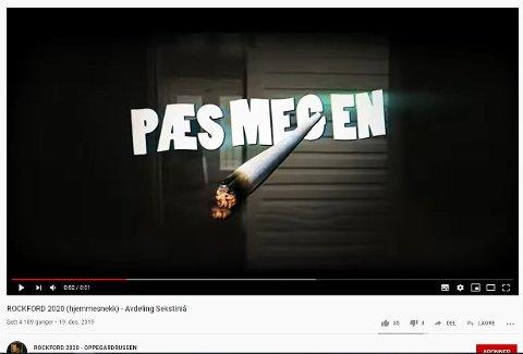 Pæs (send) meg en joint, synges det i en av låtene til russebussen Rockford fra Oppegård. Bla til høyre for flere narkotika-skjermdumper fra musikkvideoene.