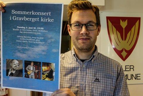 ENDELIG: – Vi starter opp igjen pent og forsiktig med sommerkonsertene, forteller kantor Daniel Bjørlo i Våler.