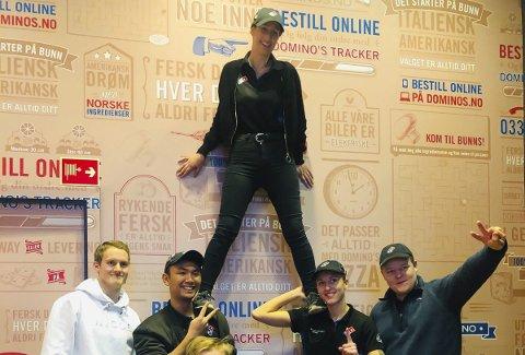 Drømmer om Vegas: Synne Ekholt drømmer om å konkurrere i VM i Las Vegas. Denne uken kjemper hun om å bli Fastest Pizza Maker i Amsterdam. Her fra den norske finalen.