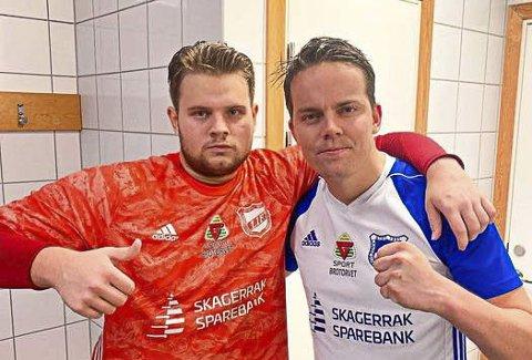REDDET POENG: Nicolay Braathen og Daniel Oland, LIF.