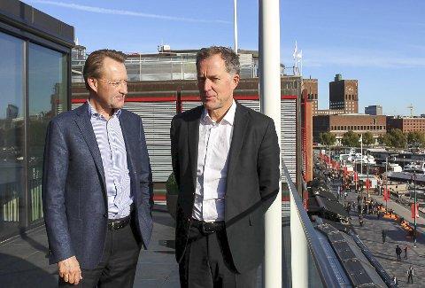 FERDIG: Gjelsten og Hartmann gikk på et nederlag.