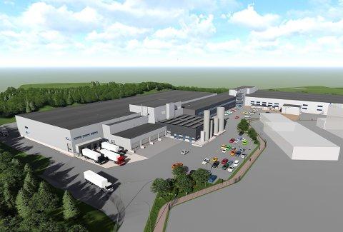 BAMA-BYGGET: Slik vil Bamas bygg på Tranby i Lier fremstå når det er ferdig med 22.500 kvadratmeter grunnflate og 32.000 kvadratmeter bruksareal.