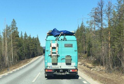 EGGPLYNDRING: Sjåføren av den tyskregistrete bilen er ikke lenger mistenkt for eggplyndring.