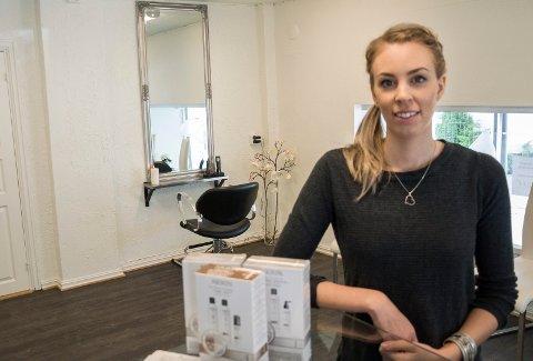 Marlene Banggren hadde første dag med åpen frisørsalong i City-gården tirsdag.