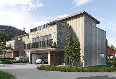 HAGE: Boligprosjektet på Mølleberget har fått navnet Sundvollen Hage. Skisse: Suninvest