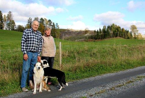 NABOER: Ifølge rapporten fra NGI har Irene Hoel og Hallkjell Jensen lite grunn til bekymring.