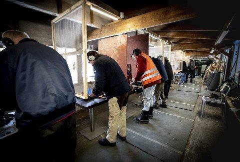 MIDLERTIDIG: På 42. året drives pistolbanen i Flaenveien på Leirsund i Skedsmo.