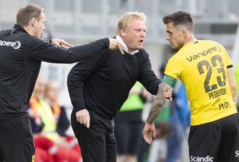 MED IGJEN: Søndag er trolig Daniel Pedersen (t.h.) tilgjengelig igjen for LSK-trener Jörgen Lennartsson. FOTO: NTB scanpix