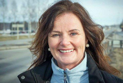 FORNØYD: Liv Thon Gustavsen fra Årnes sikter mot fast plass på Stortinget.