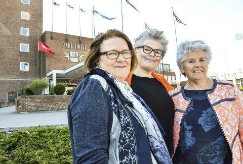 Skal fylle park: Solveig Steen-Firing (f.v.), president i Sandefjord soroptimistklubb, Evy Kruse, hovedkoordinator for landsmøtet og Tove Kiær, sekretær.
