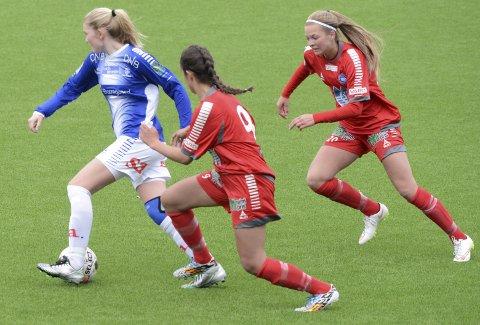 Forsvinner: Mia Voltersvik og Sarpsborg 08s jente og damespillere forsvinner fra klubben. Foto: Ole-Morten Rosted