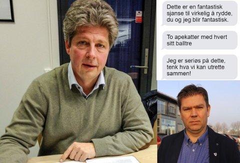 SMS-utvekslingen mellom varaordfører Alf Ulven (til venstre) og ordfører Geir Aarbu vekker oppsikt.