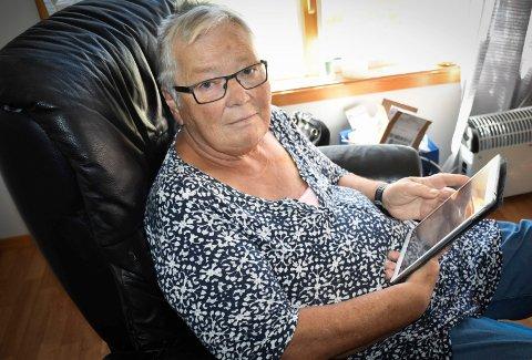 Taxinekt: Marie Helene Røyset (71) i Havnås er kreftpasient, ble sint da hun ble nektet gratis hjemreise fra sykehuset. – Må pasienter bli fly forbannet for å snakke til seg en gratis taxi hjem fra sykehuset, undrer  hun.