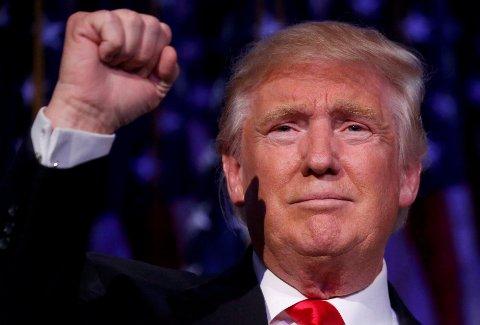 Donald Trump blir USAs neste president.