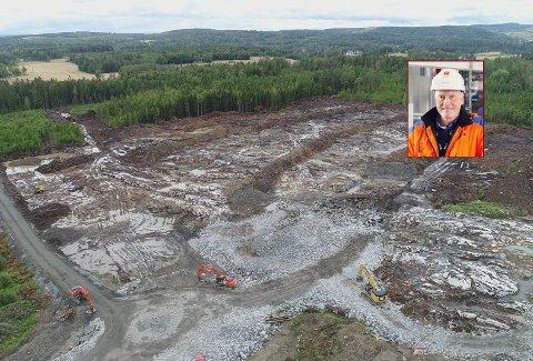 UTREDER: Egil Erstad i Østfold Energi er i samtaler med Digiplex, som etablerer seg på Holtskogen.
