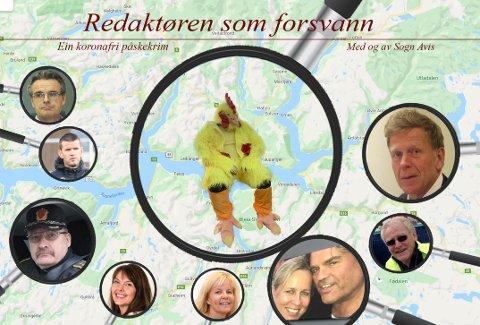 PÅSKEKRIM: Journalistane i Sogn Avis har laga sin eigen påskekrim.