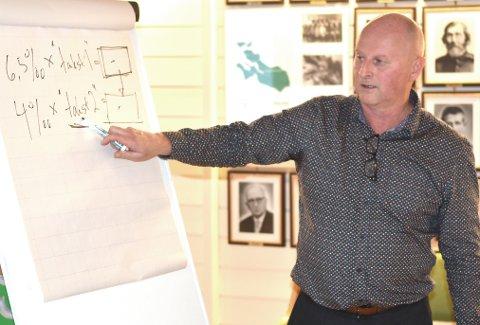 KUTT: Kommunedirektør Knut Haugen forklarer formannskapet hvordan kommunen kan ta inn eiendomsskatt neste år. Nå har Haugen lansert en kuttliste som kan vise seg å bli vedtatt all den tid den ikke inneholder kutt i tjenester innen skole og helse.