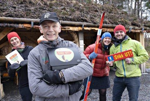 Friluftsrådet: Marte Melbø (fra venstre), Ola Fremo, Liv Hoel, Mattis Mikkelsen og Friluftsrådet brenner for å få folk ut på tur.