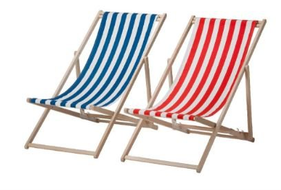 KLEMFARE: Disse strandstolene fra Ikea er på listen over farlige produkter.