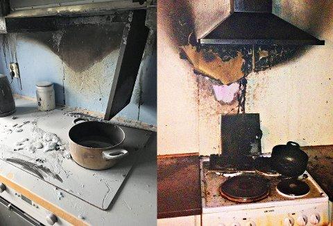 KOMFYRER: Det er mange årsaker til at man glemmer mat på komfyren. Rådet fra brannvesenet er å holde seg ved komfyren til maten er ferdig og varmen skrudd av.