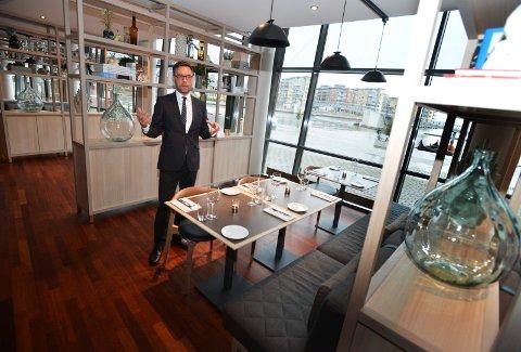 ROLIG UKE: Daglig leder Øyvind Hagen for Brasseri X forteller at restauranten var rigget for flere gjester enn de fikk i Spis ute-uka.