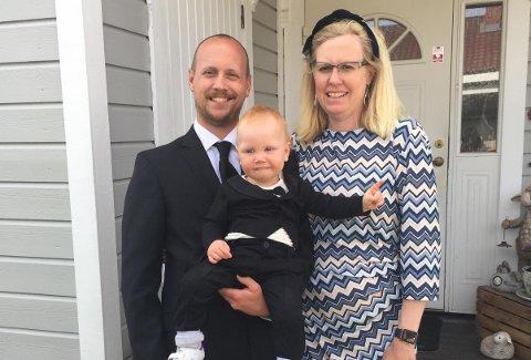 SKULLE GIFTE SEG: Nina Bjerke Valstad (40), Alf Bjerke (34) og sønnen deres Magnus Bjerke Valstad (1 1/2) gledet seg til vårens bryllup. Nå ser det dog ut til at den blir utsatt.
