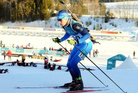 12. PLASS I IBU-CUPEN: Skatval-skiskytteren Sverre Dahlen Aspenes debuterte i IBU-cupen denne uka. Han kom på 12. plass på sprinten fredag.