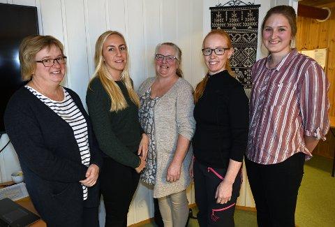Miriam Dammen Haugen, Anette Hansen Ester Kulterud, Mirian Mikkelsgard og Siri Håvelsrud. Foto: Emmy Bakkom