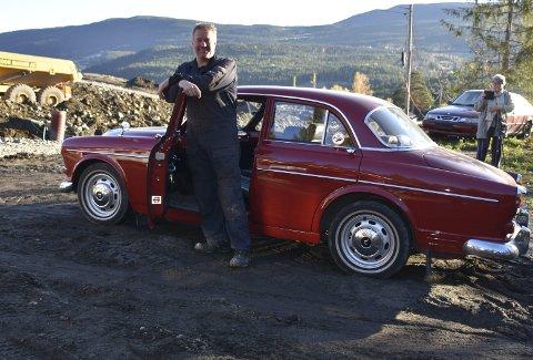 Augesteinen: Ein Volvo Amazon, 1966-modell, som onkelen Gunnar kjøpte på 1960-talet er ein del av bilsamlinga til Arve Lokreim.
