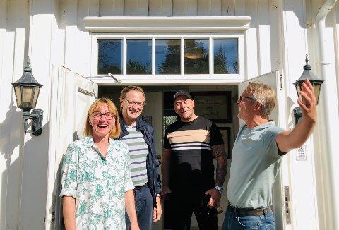 Janikke Robinson, Helge Skjelstad, Hakan Ucarli og Morten Henriksen har lav terskel og mange tilbud til rusmisbrukere og deres pårørende.