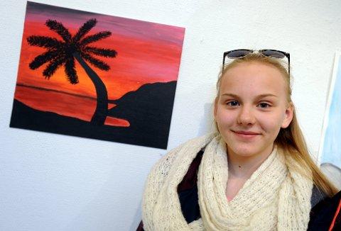 MALERI: Juste Sakalyte stiller ut maleri i Galleri Elgen.