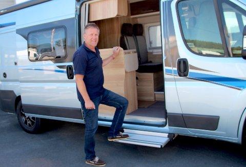 Bobilsalget øker i hele landet. I juni startet også caravanbutikken ved Ringnes og Vinterbro med salg og service på bobiler. Cato Nygård kommer fra bilbransjen og er ny avdelingsleder.