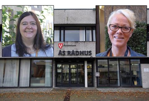 UENIGE OM UTBYGGING AV RÅDHUSET: Hilde Kristin Marås (H) og Laila Nordsveen (AP).