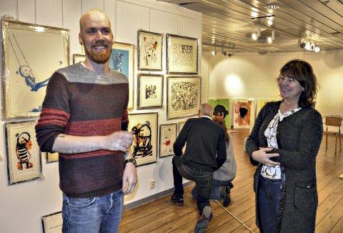 Utstilling: Ståle Gerhardsen åpner utstillingen «Fredagstaco» i Galleri Barbara lørdag 4. februar. Berit Megård ser fram til en fin kulturdag i Sunndal.
