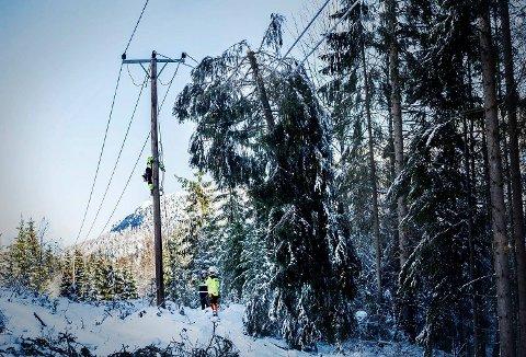 Agder Energi Nett ber folk være forberedt på strømbrudd.