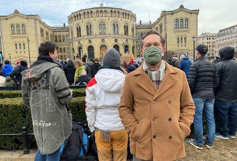 John Færseth har fått mange tilbakemeldinger etter lørdagens utspill om demonstrasjonene foran Stortinget.