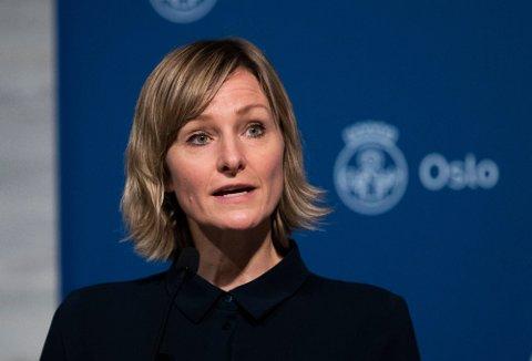 LETTELSER: Byråd for oppvekst og utdanning, Inga Marte Thorkildsen presenterte en overgang til gult nivå for skolene i Oslo i mai.