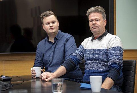 Suspenderte: Tom Larsen (t.h) var bakerisjef ved Goman Rognaldsen Bakeri i Lindås inntil han vart suspendert i haust. Då vart først hans son Thomas Larsen (t.v.) innsett som bakerisjef, før også han vart suspendert frå stillinga.
