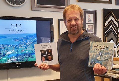 Arne Årseth kjem med fire bøker i år; om hundreåringar i Vestland, bilar i Norge før 1970, og to bind om Seims-bygda og seimarane.