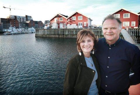Harald Lorentzen og Elin Pettersen. har bygd opp Bofisk og Bofisk Butikkdrift til en lokal sjømatsuksess Nå skal Bofisk ta et stort steg videre gjennom en etablering på Burøya.