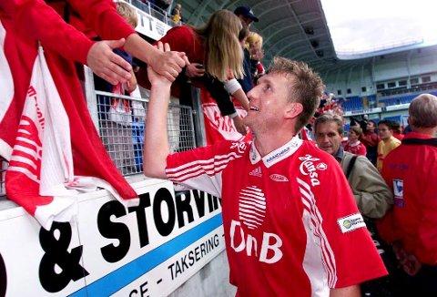 Per-Ove Ludvigsen scoret 4-3-målet i semifinalen mot Molde i 1999. Det er nok det målet han huskes best for i Brann-drakten. (Arkivfoto: Eirik Hagesæter)