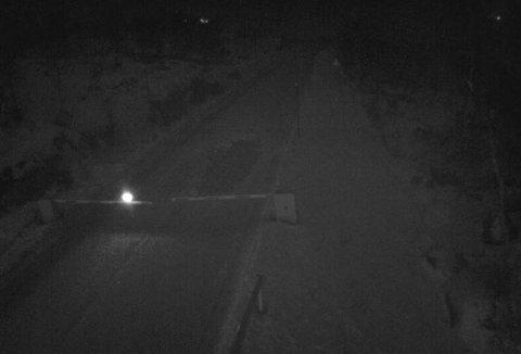 Slik ser det ut ved Leiro bom på Hardangervidda mandag kveld klokken 2220.