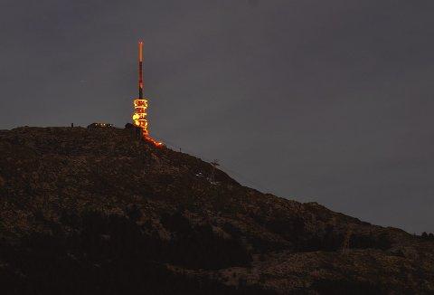 – Jeg hadde jo et håp om at Bergen kommune ville kontakte oss i forbindelse med «Bergen 950 år i 2020», sier Atle Tokvam. – Vi har i alle år mast og mast om kroner til drift og vedlikehold av Lysdansen som er helt non-profit -  , men ikke nådd frem. Foto: EMIL WEATHERHEAD BREISTEIN