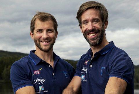 Kristoffer Brun (t.v.) og Are Strandli jakter medalje i VM om to uker.