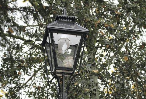 Det har ikke vært hærverk på lyset i Nygårdsparken på mange år. Nå er det to slikte lykter som er ødelagte. Foto: TOM R. HJERTHOLM