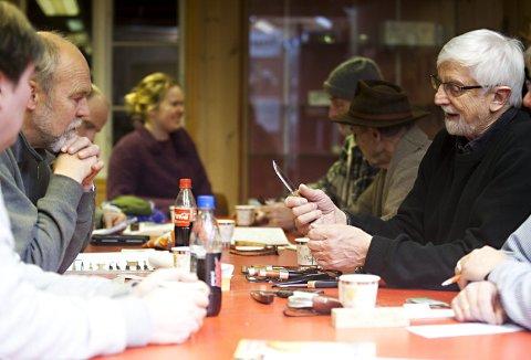 Møtene i Bellgården er veldig viktig for den aktive gjengen i Bergenstollekniven. Her er Lars Larsson Tveit  til høyre. Bildet er fra 2011. Foto:  EMIL WEATHERHEAD  BREISTEIN